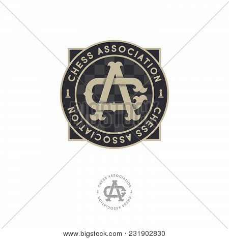 Chess Association Emblem. C And A Initials. C Letter And A Letter. Sport Tournament Emblem.