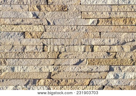 Fragment Of A Wall Made Of Stone. Stone Wall. Fragment Of A Wall Made Of Stone. Stone Wall.