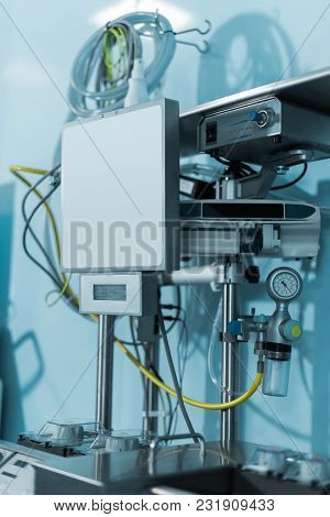 View Of Modern Medical Equipment In Surgery Room