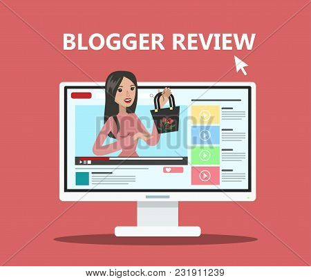 Woman Blogger Review. Fashion Blogger Showing New Trends.