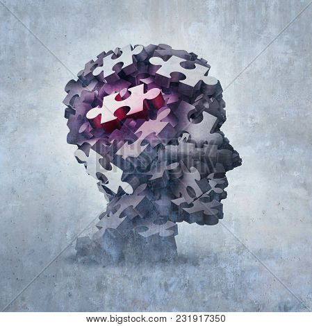 Neurosis Mental Disorder Concept As An Obsessive Behavior Psychiatric And Psychology Symbol As A 3d