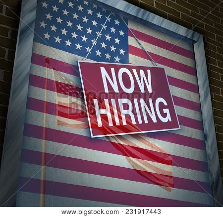 Us Economy Jobs And Hiring Employees In The United States As An American Economic Rise And Inflation