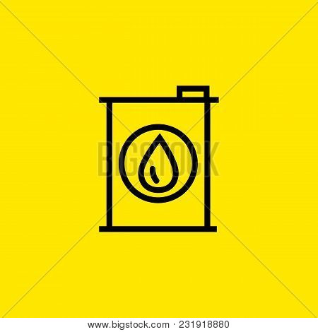 Icon Of Oil Barrel. Fuel, Drop, Tank. Car Service Concept. Can Be Used For Topics Like Automobile, C