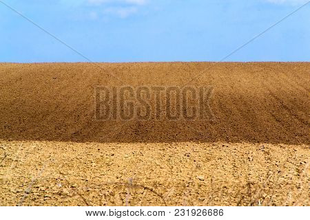 Arable Land Prepared For Planting