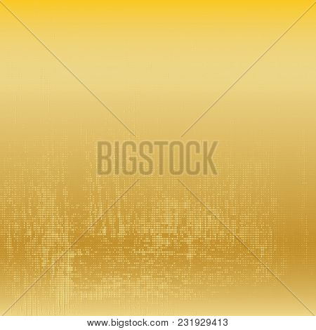 Gold Dotted Background. Halftone Golden Texture. Vector Modern Background For Posters, Brochures, Si