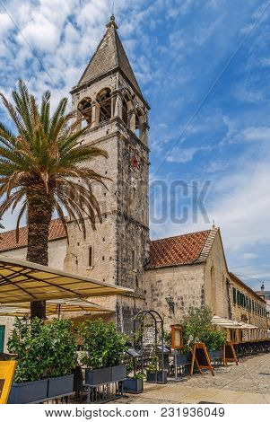Church Of St. Dominic On The Embankment Of The Old Town In Trogir, Croatia
