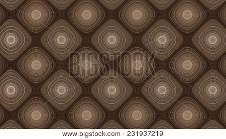 Parametric Grid Of Generated Wooden Rings. Abstract Background. 2d Illustration.
