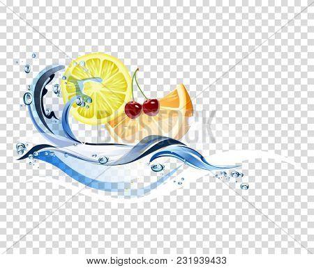 Fruit, Splashing, Water, Drinking Water, Falling