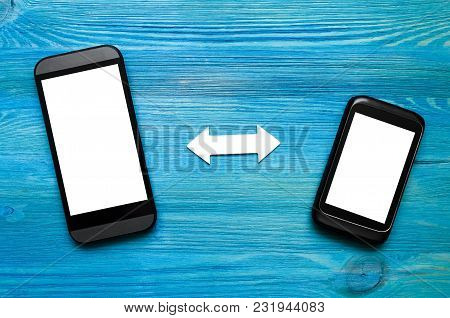 The Scheme Of Interaction Of Mobile Phones. Incoming And Outgoing Calls. Data Exchange. Synchronizat