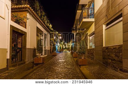 Town Camara de Lobos in Madeira Portugal - travel background