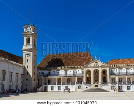 Coimbra university in Portugal - architecture background