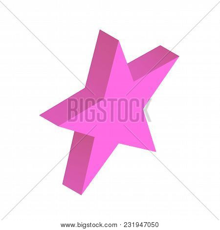 Isometric Star Simple Icon Concept Vector Illustration