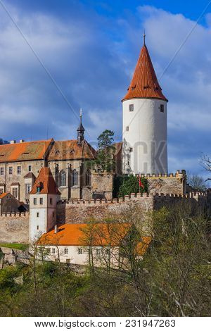 Castle Krivoklat in Czech Republic - travel and architecture background