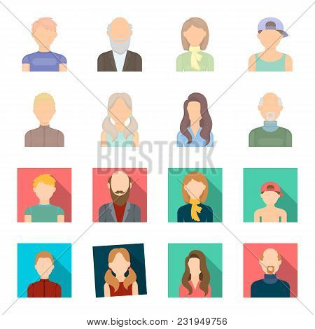 Boy Blond, Bald Man, Girl With Tails, Woman.avatar Set Collection Icons In Cartoon, Flat Style Vecto