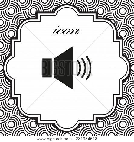 Vector Icon Sound On A Geometric Background Of Eps