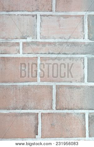 Wall Of Large Stone Blocks. Large Bricks. Beautiful Blank Background.