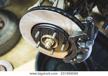 Car Disk Brakes Repair Service Performed
