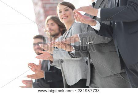 creative business team applauding