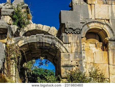 Old Archeology Ruins In Turkey - History Background
