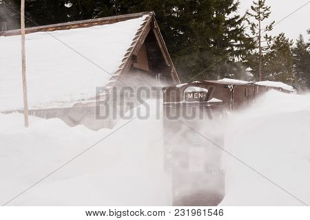 Mens Room Winter Snow Storm Crater Lake Oregon