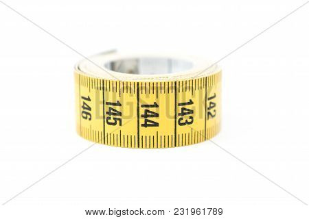 Yellow Measuring Tape. Sewing And Tailoring Accessories.