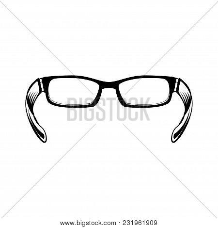 Glasses Icon, Eyeglasses. Glasses Icon, Glasses Icon Image. Vector Illustration Isolated On White Ba