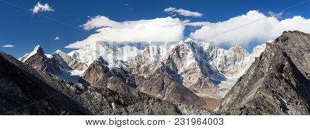 View Of Mount Cho Oyu From Kongma La Pass, Khumbu Valley, Solukhumbu, Sagarmatha National Park, Nepa