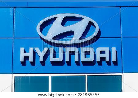 Noblesville - Circa March 2018: Hyundai Motor Company Dealership. Hyundai is a South Korean Multinational Automotive Manufacturer V