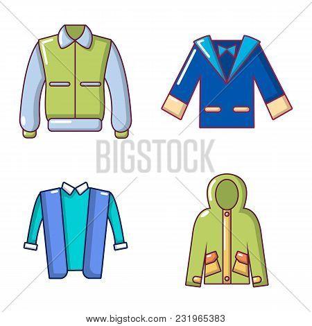 Jacket Icon Set. Cartoon Set Of Jacket Vector Icons For Web Design Isolated On White Background