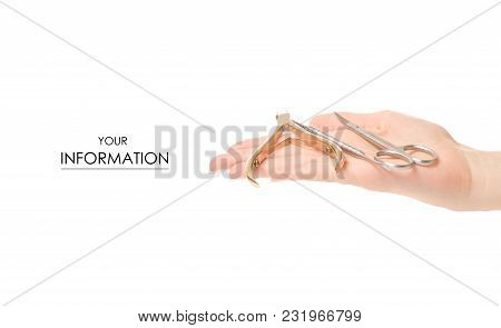 Tools For Manicure Pattern On White Background Isolation