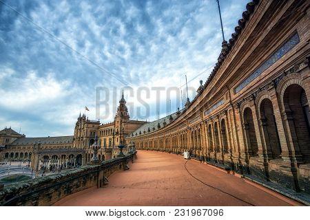 Seville Spanish Plaza Above Pavilion