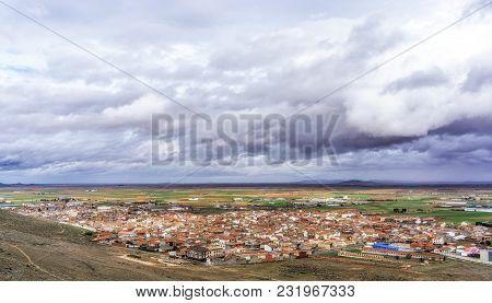 Consuegra Village During A Storm