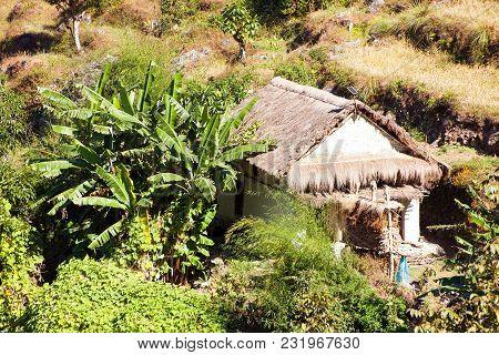 Beautiful House In Nepal, Khumbu, Solukhumbu, Nepal Himalayas Mountains