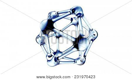 DNA molecule in water over white background. 3d