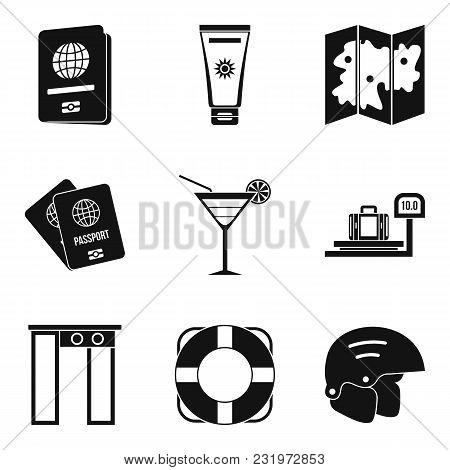 Hiatus Icons Set. Simple Set Of 9 Hiatus Vector Icons For Web Isolated On White Background