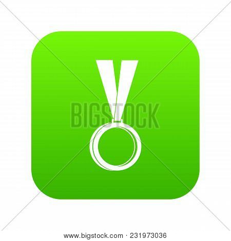 Medal Icon Digital Green For Any Design Isolated On White Vector Illustration