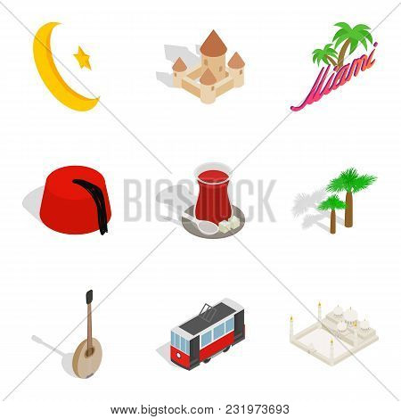 Nonbusiness Day Icons Set. Isometric Set Of 9 Nonbusiness Day Vector Icons For Web Isolated On White