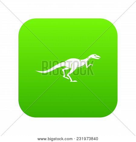 Velyciraptor Icon Digital Green For Any Design Isolated On White Vector Illustration