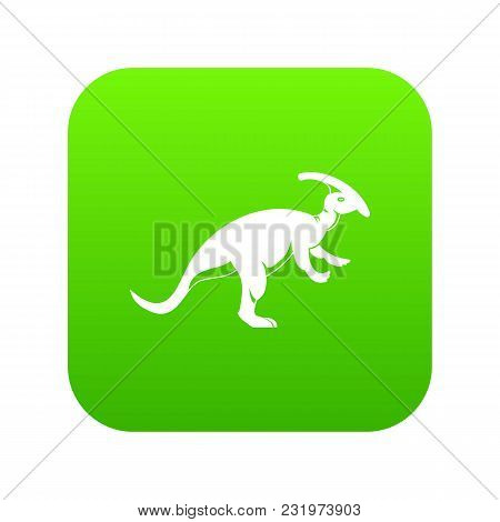 Parazavrolofus Icon Digital Green For Any Design Isolated On White Vector Illustration