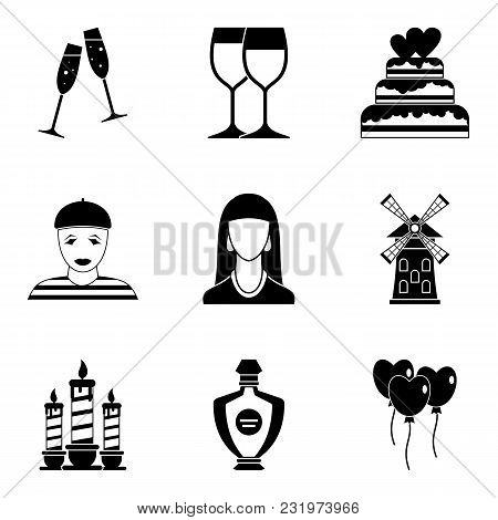 Devotion icons set. Simple set of 9 devotion vector icons for web isolated on white background poster