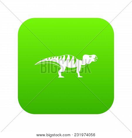 Hadrosaurid Dinosaur Icon Digital Green For Any Design Isolated On White Vector Illustration