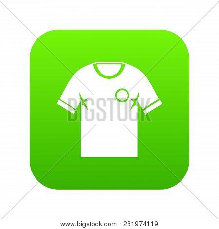 Soccer Shirt Icon Digital Green For Any Design Isolated On White Vector Illustration
