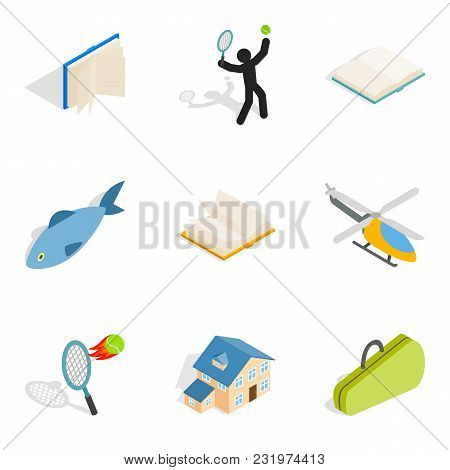 Business Entertainment Icons Set. Isometric Set Of 9 Business Entertainment Vector Icons For Web Iso