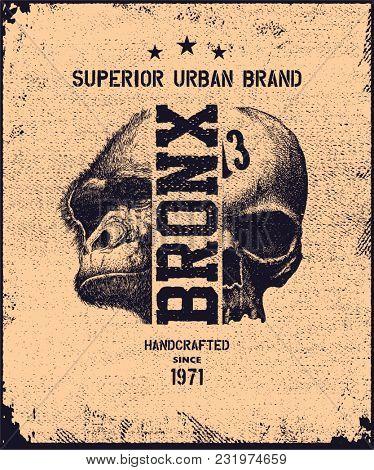 vintage urban typography, t-shirt graphics, jpeg version