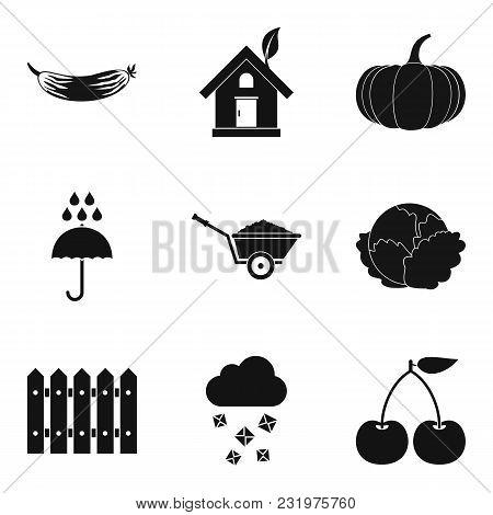 Garnish Icons Set. Simple Set Of 9 Garnish Vector Icons For Web Isolated On White Background