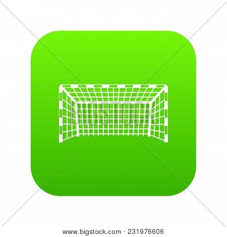 Goal Post Icon Digital Green For Any Design Isolated On White Vector Illustration
