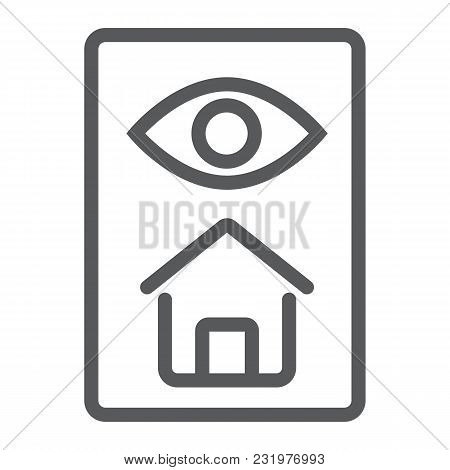 Home Inspection Line Icon, Real Estate And Home, Inspect Sign Vector Graphics, A Linear Pattern On A