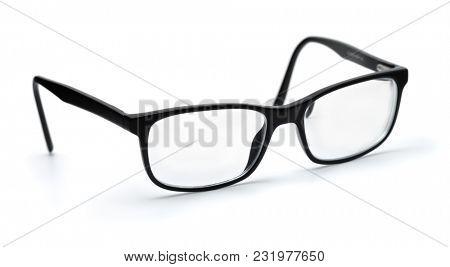 Classic eyeglasses isolated on white