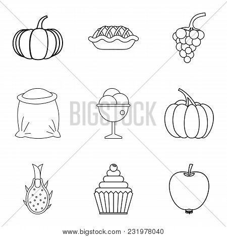 Veganism Icons Set. Simple Set Of 9 Veganism Vector Icons For Web Isolated On White Background