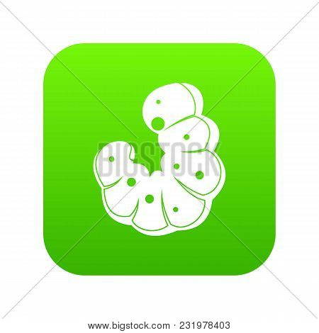 Worm Icon Digital Green For Any Design Isolated On White Vector Illustration